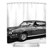 1971 Pontiac G T O Shower Curtain