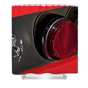 1972 Ferrari 365 Gtc-4 Emblem Shower Curtain