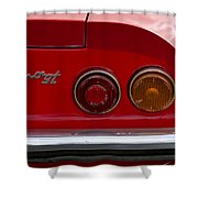 1972 Ferrari Dino 246gt Taillight Emblem Shower Curtain