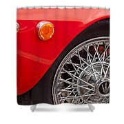 1972 Maserati Ghibli 4.9 Ss Spyder Wheel Shower Curtain