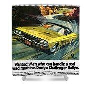 1973 Dodge Challenger Rallye Shower Curtain