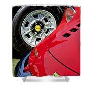 1973 Ferrari 246 Gts Dino Emblem 5 Shower Curtain