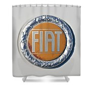1977 Fiat 124 Spider Emblem Shower Curtain