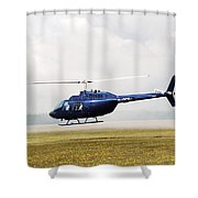 1980 Bell Helicopter Textron Bell 206b Shower Curtain