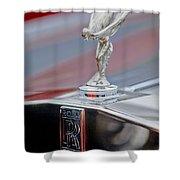 1984 Rolls-royce Silver Spur Hood Ornament Shower Curtain