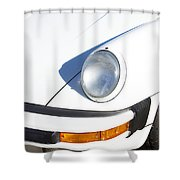 1987 White Porsche 911 Carrera Front Shower Curtain by James BO  Insogna