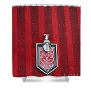 1988 Monte Carlo Ss Crest And Shield Emblem Shower Curtain