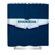 1997 Aston Martin Emblem Shower Curtain
