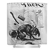 19th Century Political Cartoon Shower Curtain