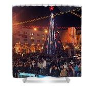 1st International Christmas Festival Shower Curtain