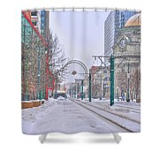 1st Real Snow Golddome 2012 Shower Curtain