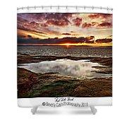 Red Rock Beach Shower Curtain