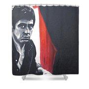 - Scarface - Shower Curtain by Luis Ludzska