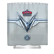 1953 Chrysler Imperial Custom Emblem Shower Curtain