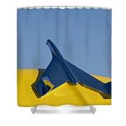 1956 Chevrolet Belair Hood Ornament Shower Curtain