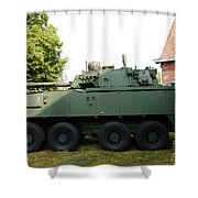 A Belgian Army Piranha IIic Shower Curtain