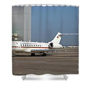A Bombardier Global 5000 Vip Jet Shower Curtain