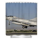 A Dassault Mirage 2000 Of The United Shower Curtain