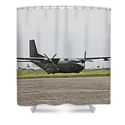 A German Air Force Transall C-160 Taxis Shower Curtain