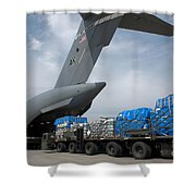 A Japanese Soldier Marshals Vehicles Shower Curtain