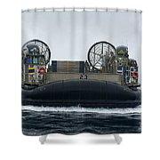 A Landing Craft Air Cushion Approaches Shower Curtain