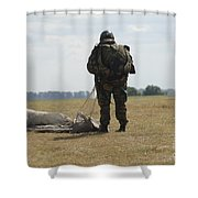 A Member Of The Pathfinder Platoon Shower Curtain