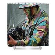A Paratrooper Of The Belgian Army Shower Curtain