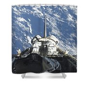 A Partial View Of Space Shuttle Shower Curtain