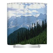 A Scenic View Of The Rocky Mountains Shower Curtain