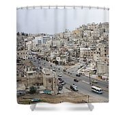 A Street Scene In Amman, Jordan Shower Curtain