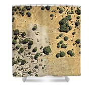 A Village On The Shores Of Lake Chad Shower Curtain