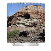 Abandoned Manganese Mine At Cape Vani Shower Curtain