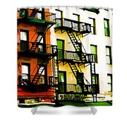Above The Market Shower Curtain
