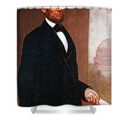 Abraham Lincoln, 16th American President Shower Curtain by Photo Researchers