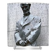 Abraham Lincoln Statue Shower Curtain