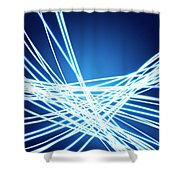 Abstract Of Weaving Line Shower Curtain