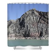 Acidic Crater Lake, Kawah Ijen Volcano Shower Curtain