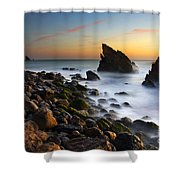 Adraga Beach Shower Curtain