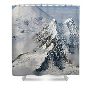 Aerial View Of Shishaldin Volcano Shower Curtain