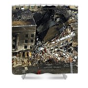 Aerial View Of The Terrorist Attack Shower Curtain by Stocktrek Images