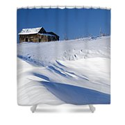 Alberta, Canada Abandoned Farm Building Shower Curtain by Philippe Widling