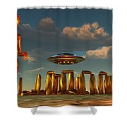 Alien Interdimensional Beings Recharge Shower Curtain