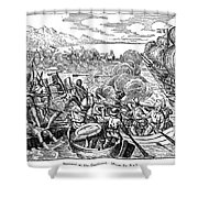 Amerigo Vespucci (1454-1512) Shower Curtain