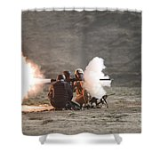 An Afghan Police Studen Fires Shower Curtain