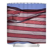 An American Flag At Sunrise Shower Curtain