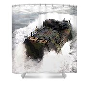 An Amphibious Assault Vehicle Shower Curtain
