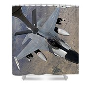 An F-16 Fighting Falcon Receives Fuel Shower Curtain