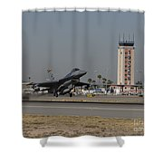 An F-16 Fighting Falcon Takes Shower Curtain