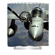 An Fa-18c Hornet Receives Fuel Shower Curtain