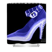 An X-ray Of A High Heel Shoe Shower Curtain